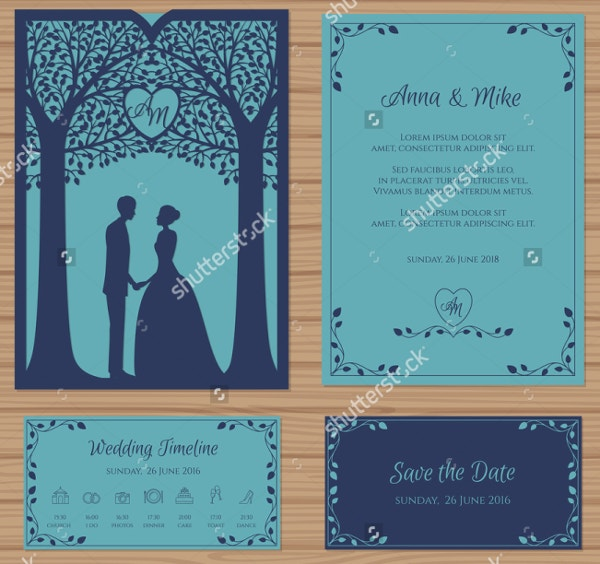 Envelope Wedding Invitation Template