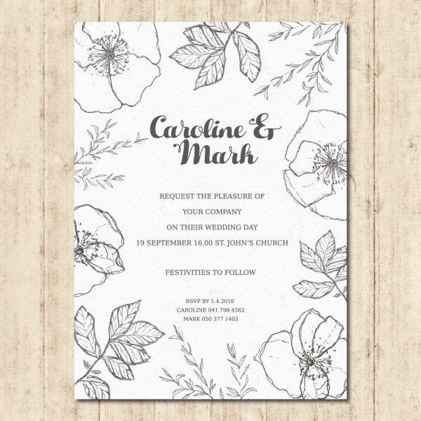 floral wedding invitation template1
