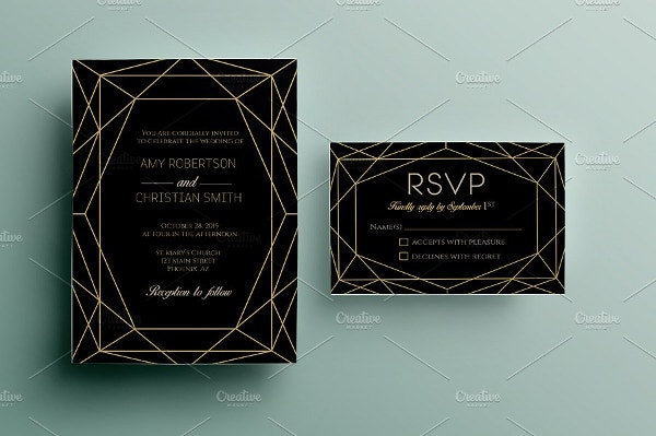 Gem Wedding Invitation Template