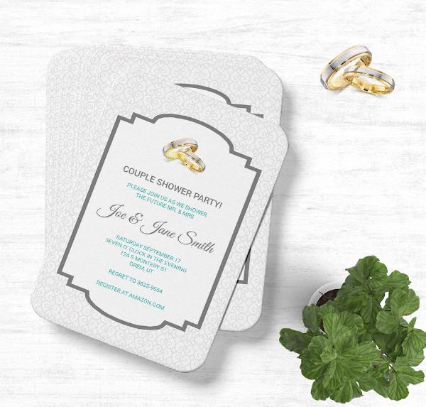 Modern Wedding Shower Party Invitation