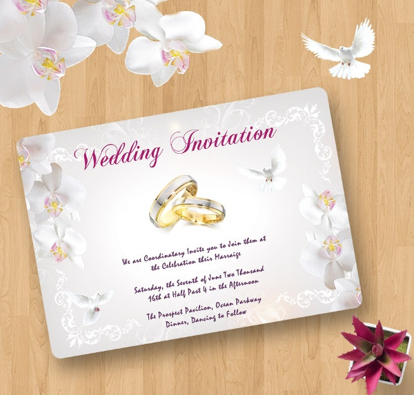 Free Wedding Templates Psd Download: 40+ Wedding Invitation Template