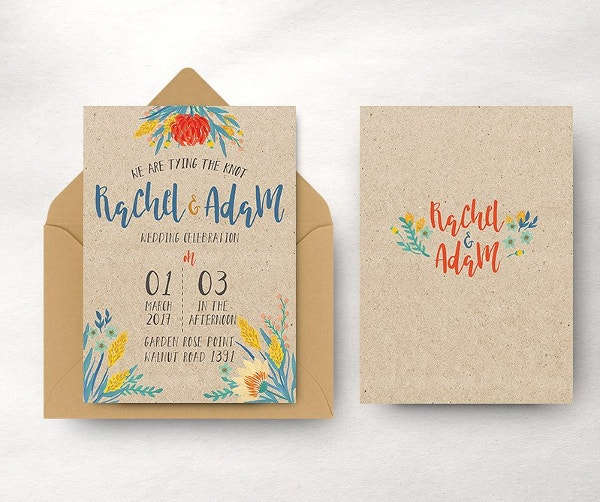 Summer Floral Wedding Invitation
