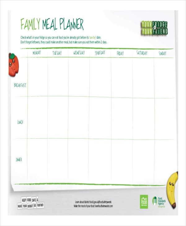 Family Meal Planning Template