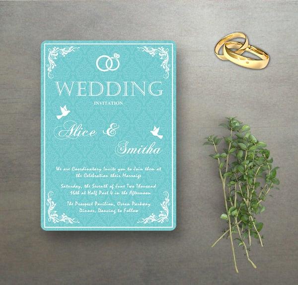Wedding Invitation Program PSD Template