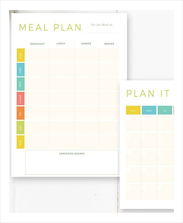 meal menu planning kit