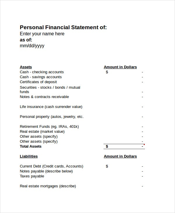 Income Statement Free PDF Excel Word Documents Download – Personal Profit and Loss Statement Template