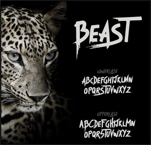 Beast Brush Font
