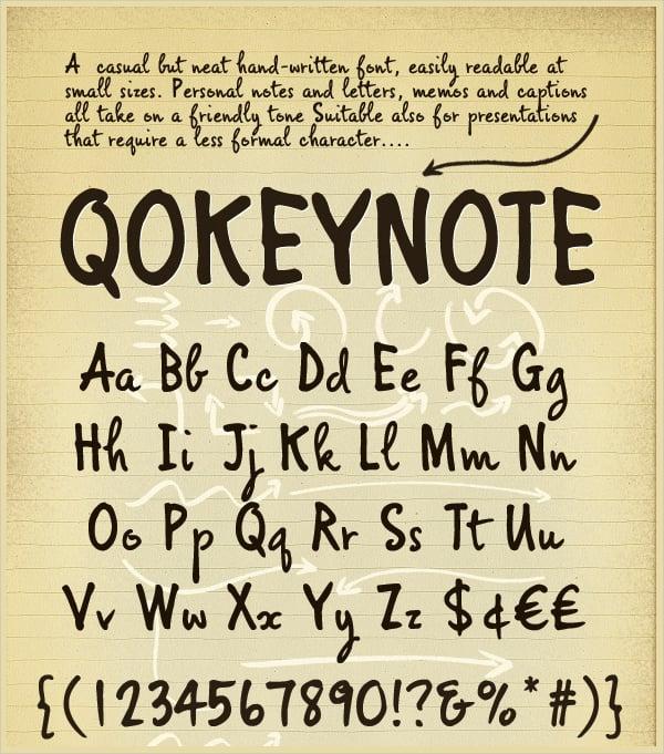 Casual Handwritten Lettering Font