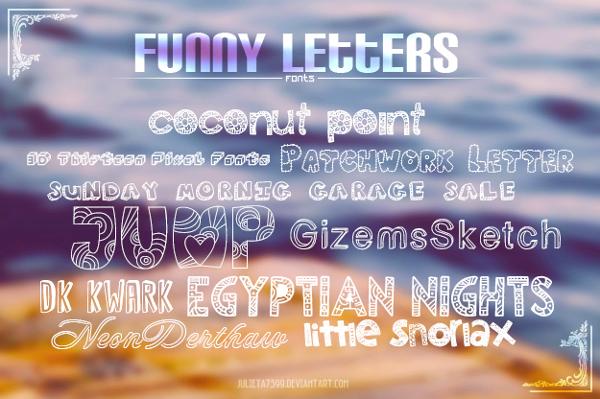 funny letter font