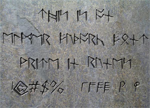 Futhark Runes Font