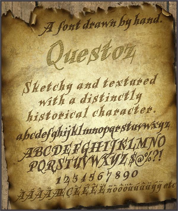 historical lettering font