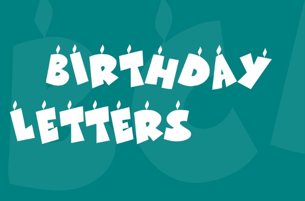 KR Birthday Letters Font