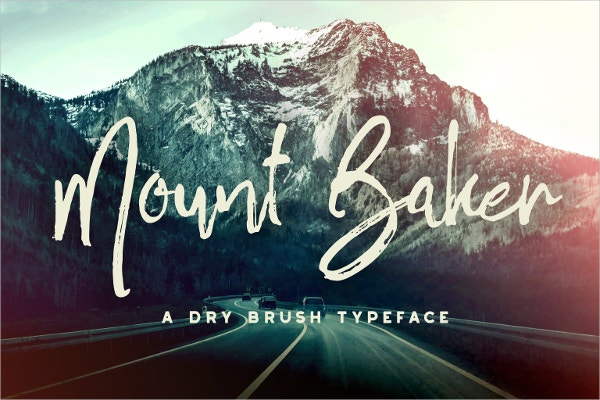 Mount Baker Brush Font