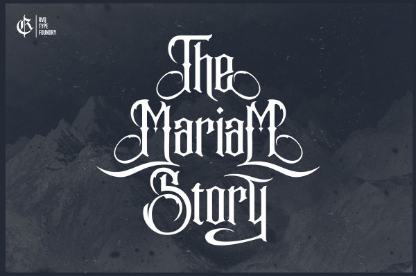 The Mariam Story Font