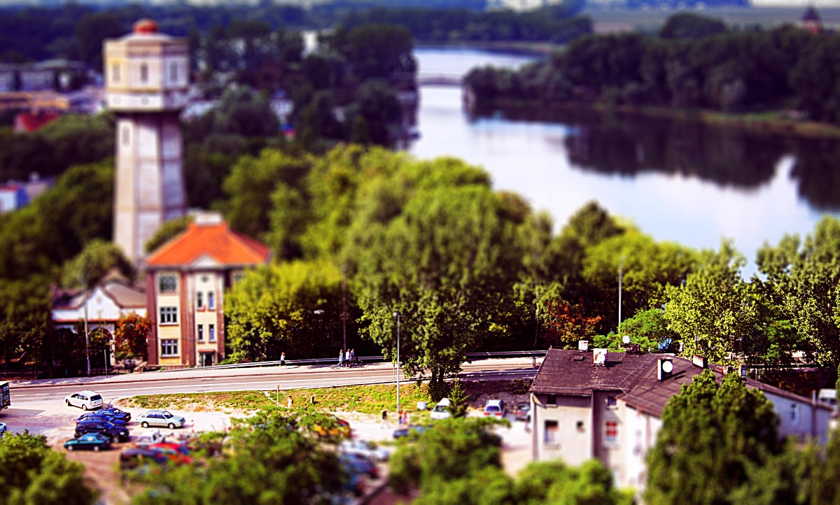 Tilt Shift of Road