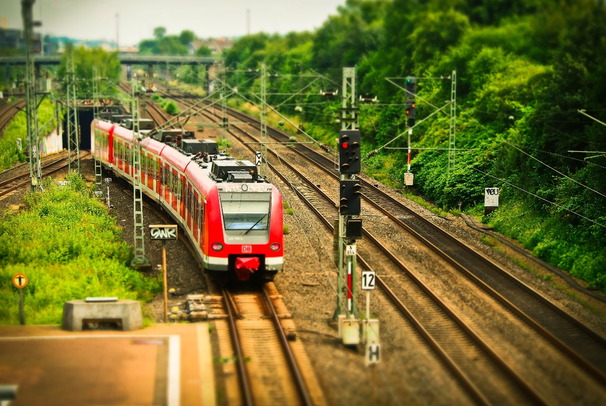 Electric Locomotive Tilt Shift Photography