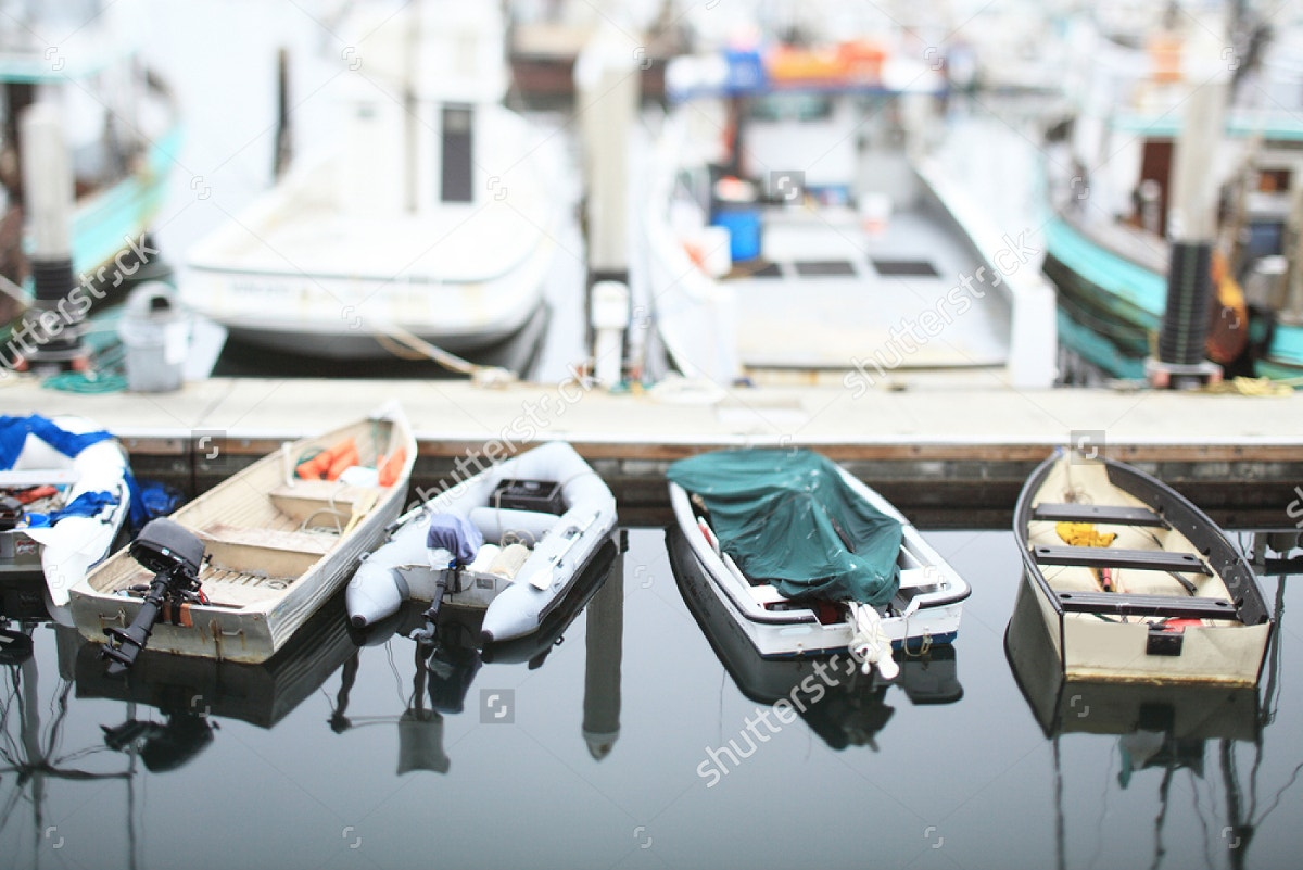 Boats Aerial View Tilt-shift