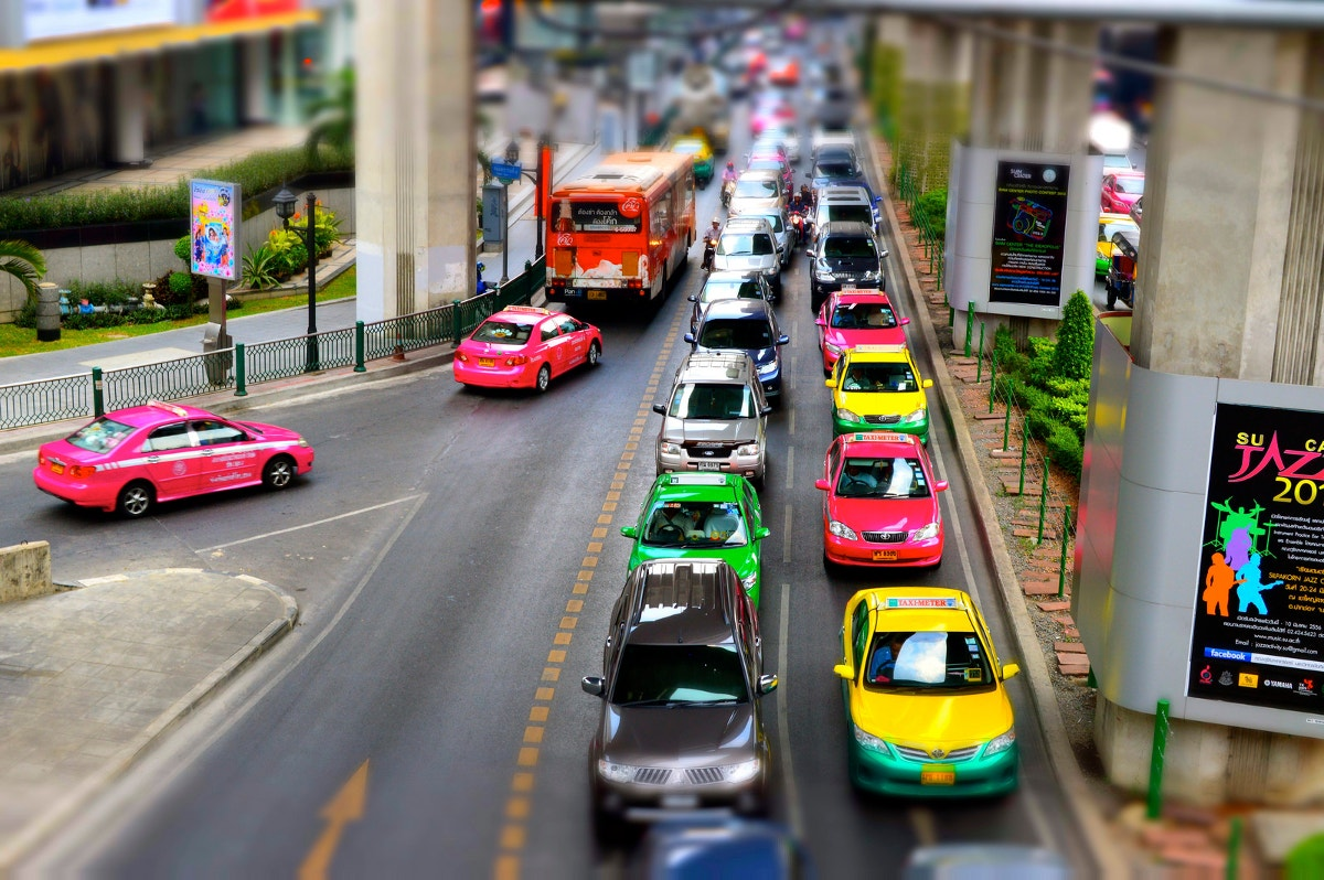 Bangkok Transport Tilt shift