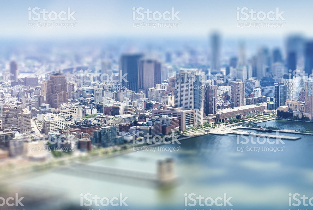Aerial View Tilt Shift Photography
