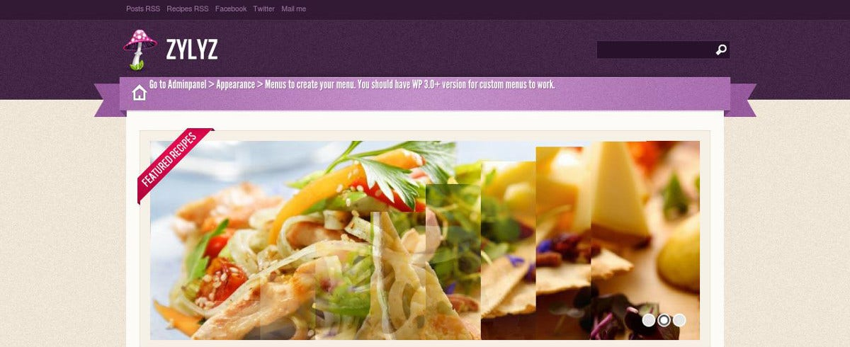 spicy recipe food blog theme1
