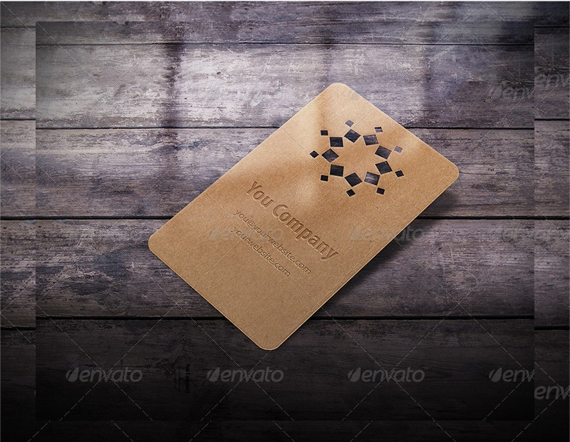 new die cut business card mockup