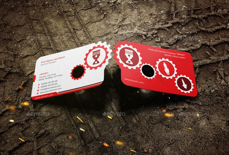 Dimensional Business Card Mock Up Die Cut