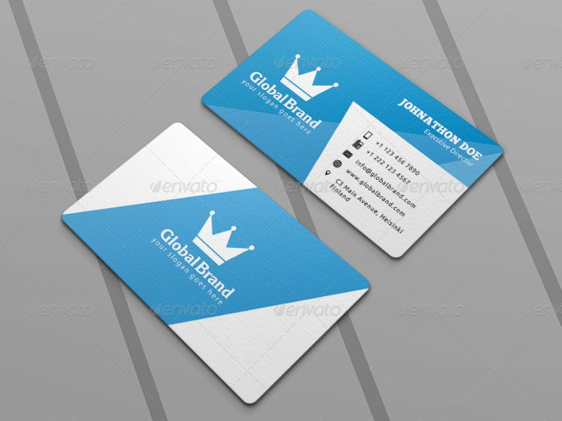 Creative Die Cut Business Card Design