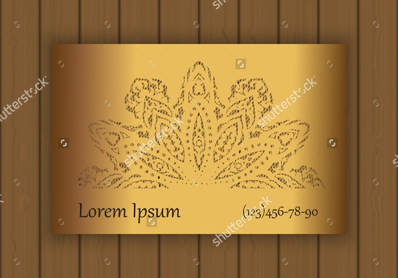 business card template with die cut pattern