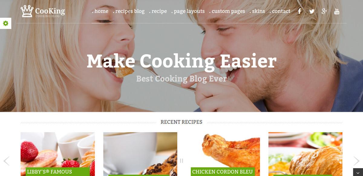 blog recipe wordpress theme1