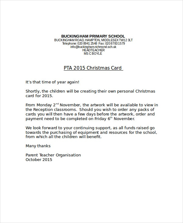 Christmas Letter Template 9 Free Word PDF PSD Documents – Christmas Card Letter Templates