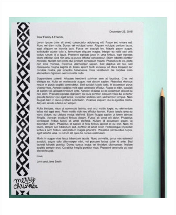 Christmas Letter Template   Free Word Pdf Psd Documents