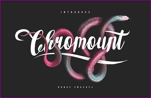 Chromount Fancy Typeface