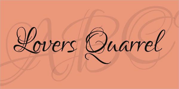 Fancy Lovers Quarrel Font