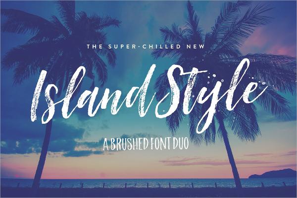 Island Style Brushed Font