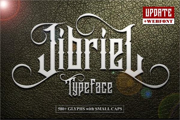 Jibriel Tattoo Typeface Font