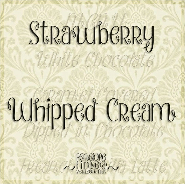 Strawberry Whipped Cream Font