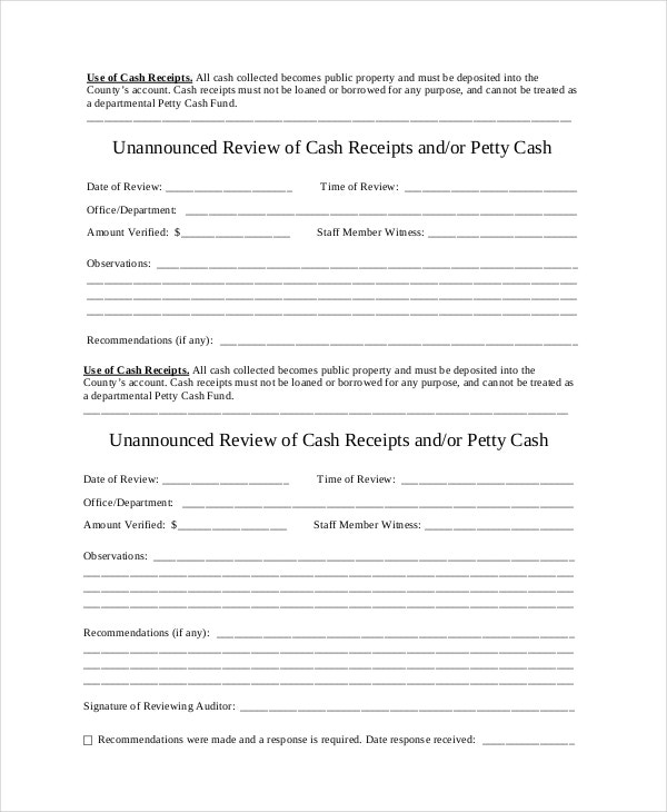 Cash Receipt Template 8 Free Word PDF Documents Download – Cash Receipts Template