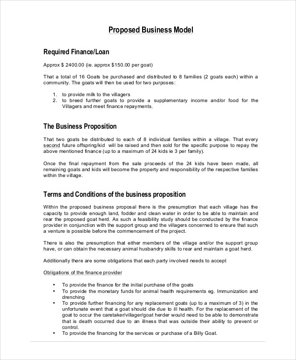 Business Proposal Sample Business Project Proposal Template How