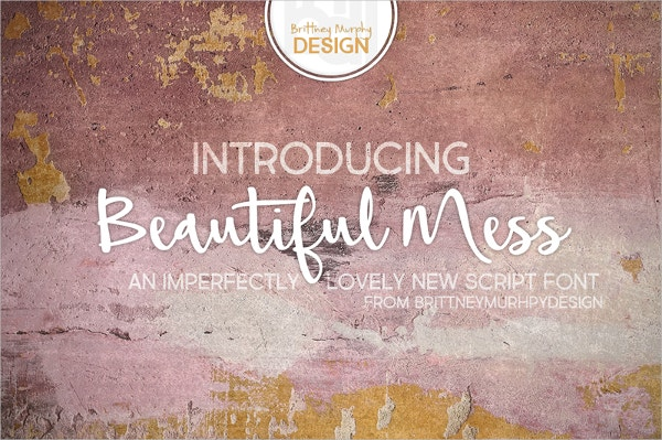 beautiful mess calligraphy font