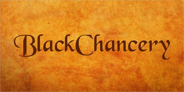 BlackChancery Calligraphy Font