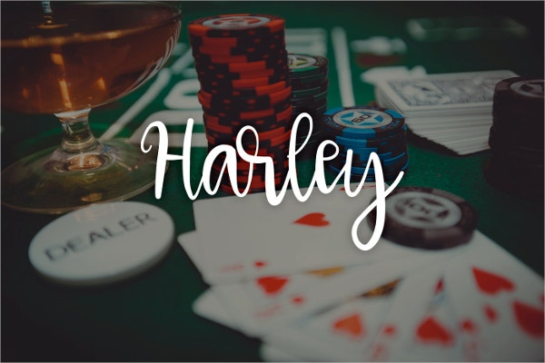 Harley a Calligraphy Font