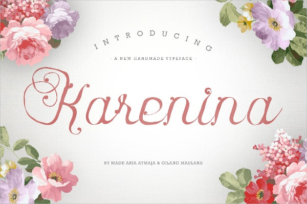 Karenina Calligraphy Font