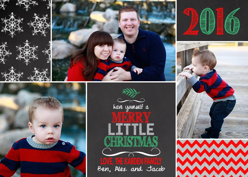 printable christmas holiday photo card