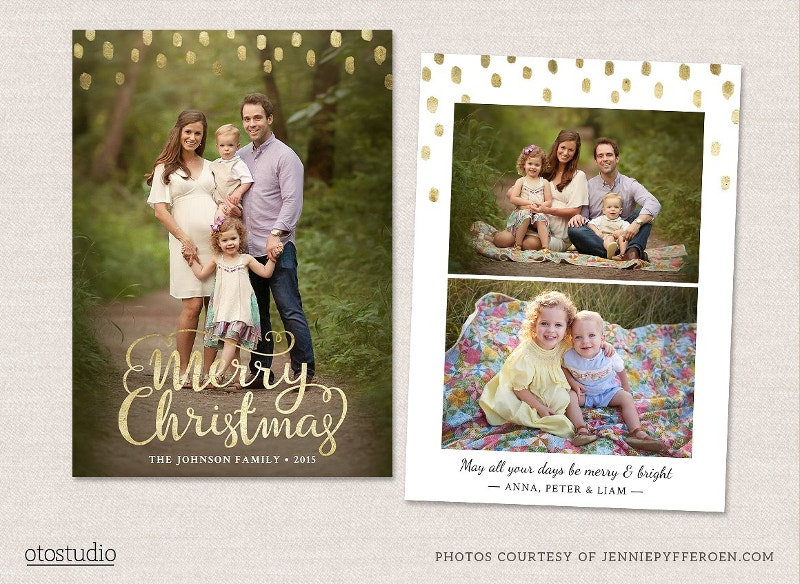 hand made christmas card template