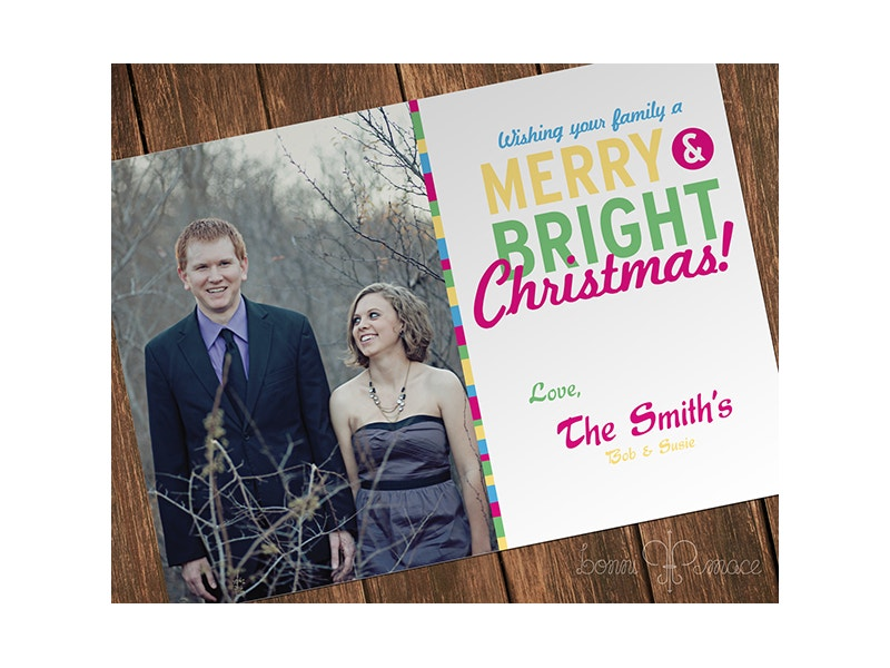Free Christmas Holiday Photo Card