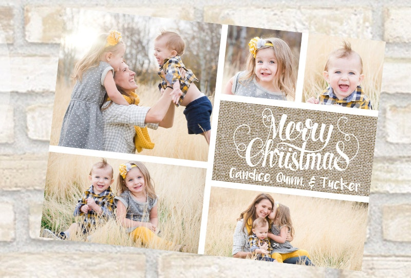 Family Christmas Photo Post Card
