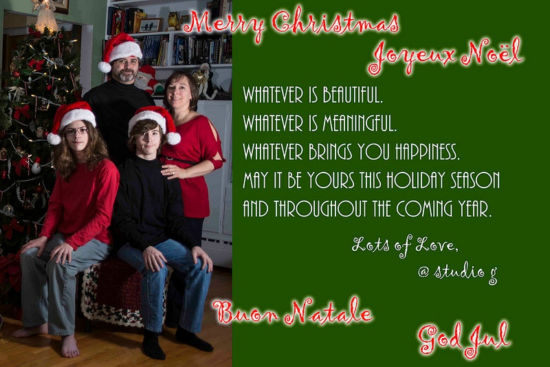 Designed Christmas Photo Card