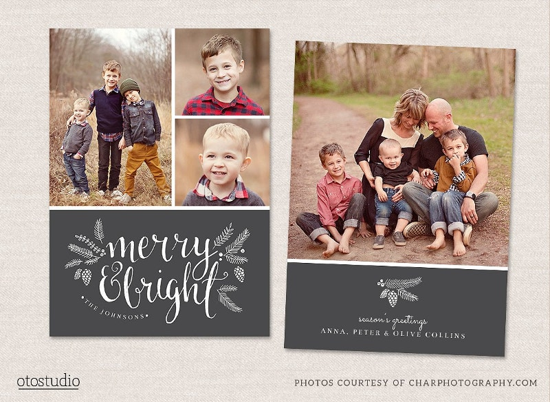 Clean Christmas Card Template