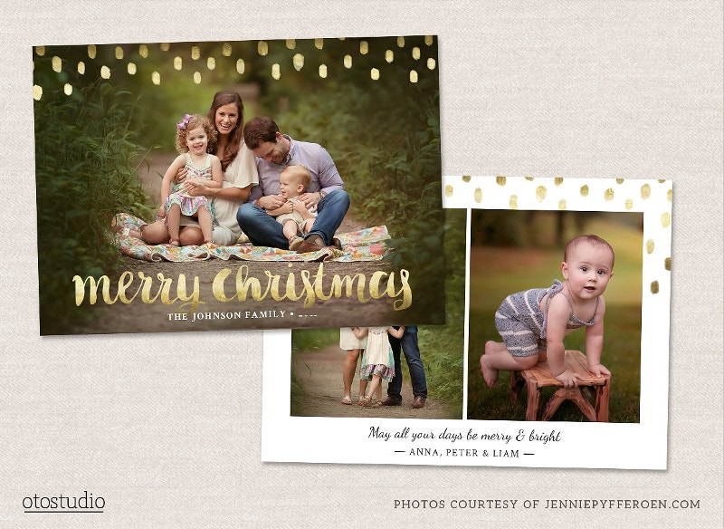 christmas psd card template
