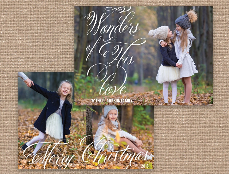 christmas greetinf photo card